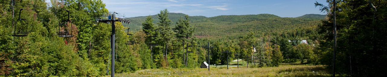 Ragged Mountain Resort chairlifts in summer
